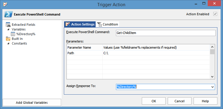 Trigger Actions > Available Action Types > Scripting/System